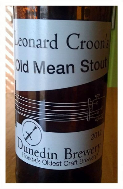 Leonard Croons First look at Dunedin Brewerys new labeling for Leonard Croons Old Mean Stout
