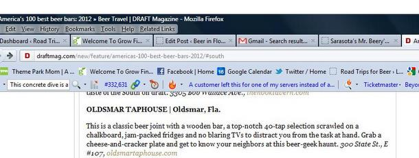 draft mag screenshot 1 List of best craft beer bars includes three Florida bars   one of them closed (updated)