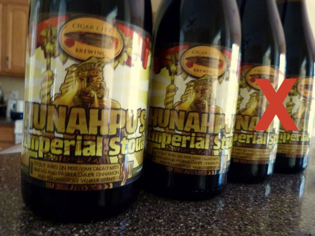 Hunahpu minus 2 Cigar City Brewing Hunahpus Day: Bad news, good news and better news (Updated)