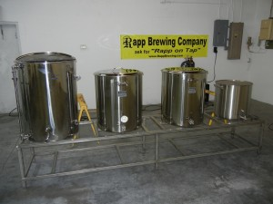 Rapp Brewing Co. tankms 300x225 New Tampa Bay area craft brewery to open soon: Rapp Brewing Company