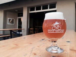 Cycle Brewing glass
