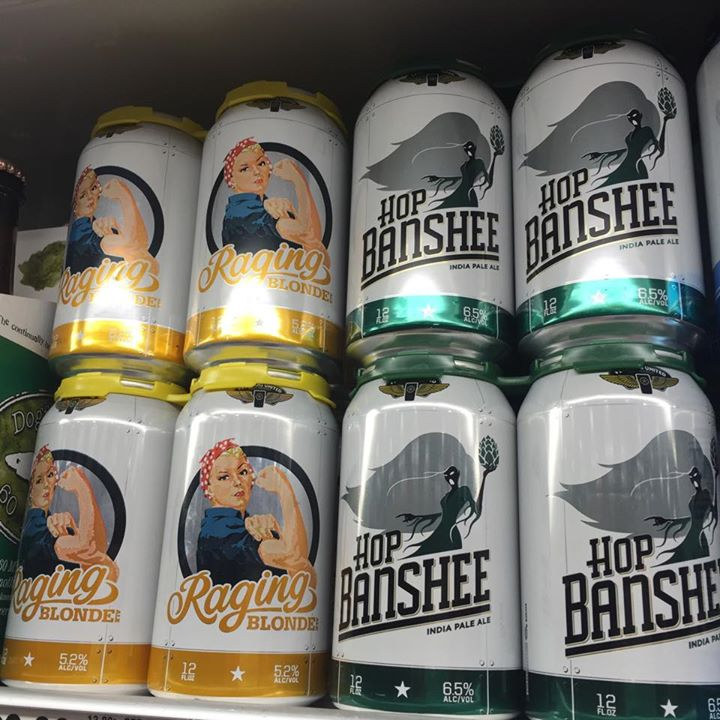 Veterans United Craft Brewery in Jacksonville has put its Raging Blonde and Hop Banshee in cans, now available in local retail outlets.