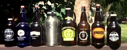 Before today, July 1, the two 64 oz. beer growlers in the middle could not be legally filled for sale in Florida.